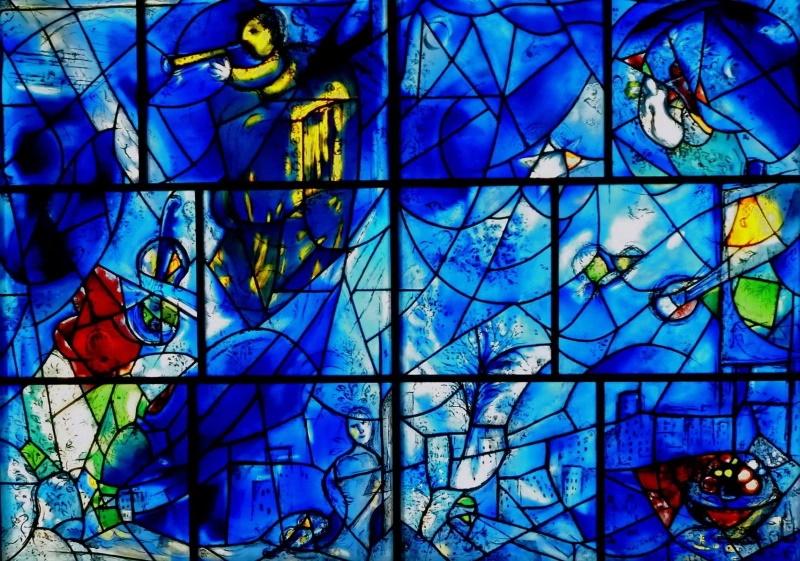 Витраж «Окна Америки», Марк Шагал.