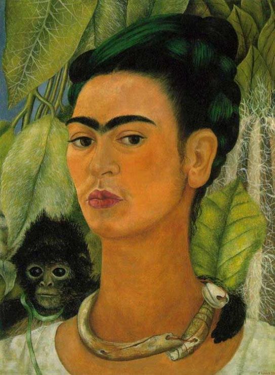 «Автопортрет с обезьянкой», Фрида Кало, 1938 г.