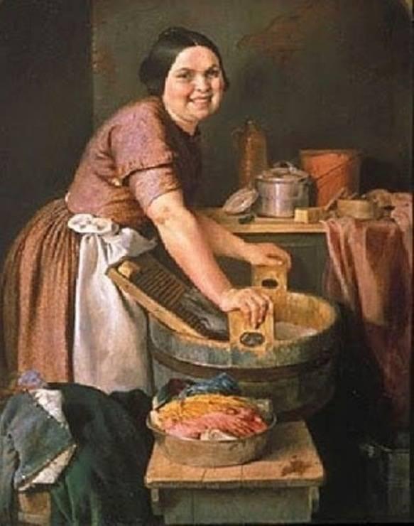 «Весёлая прачка», Лилли Мартин Спенсер, ХІХ век.