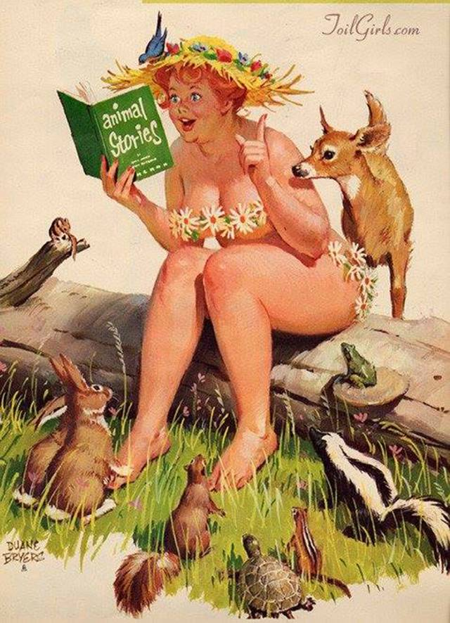 «Хильда», Дуэйн Брайерс, пин-ап иллюстрация.