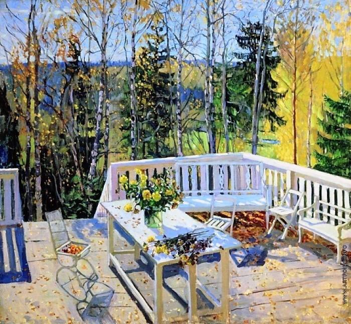 «Брошенная терраса», Станислав Жуковский, 1911 г.