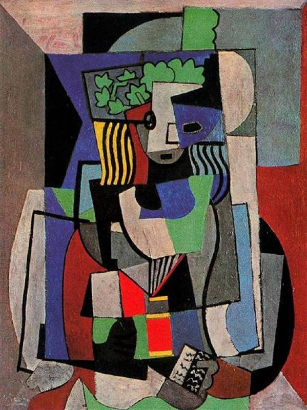 «Студентка», Пабло Пикассо, кубизм, 1919 г.