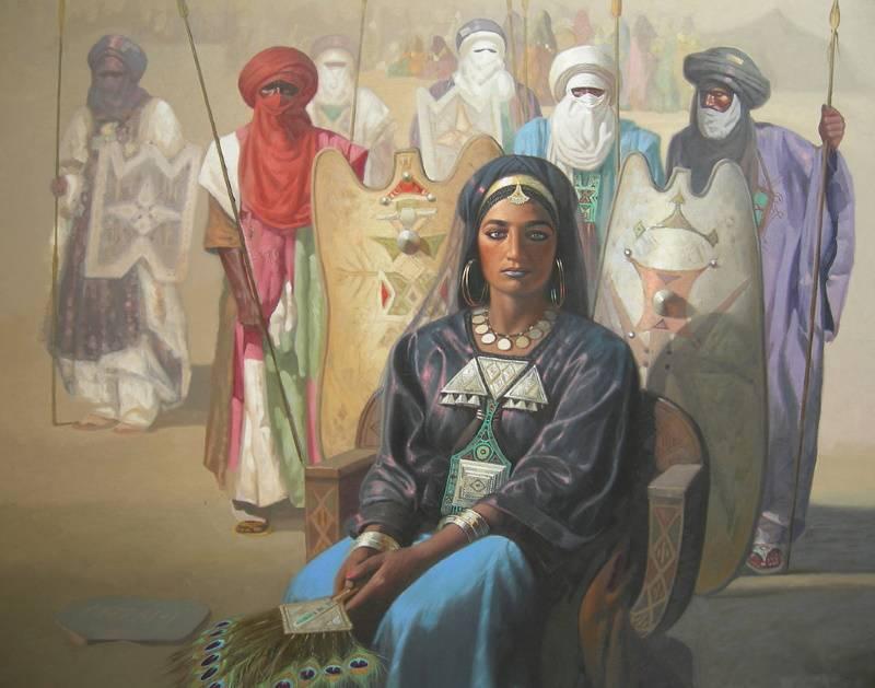 «Царица Сахары Тин Хинан» (прародительница туарегов), Хосине Зиани.
