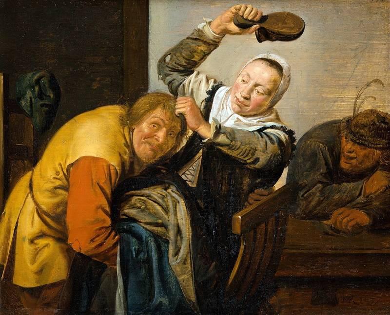 «Touch»,  Ян Минсе Моленар, часть серии «The Five Senses», 1637 г.