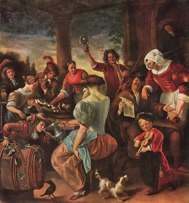 «Семья скандалистов», Ян Стен, XVII век.