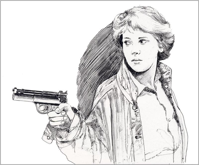 «Женщина с пистолетом», Крис Фосс.