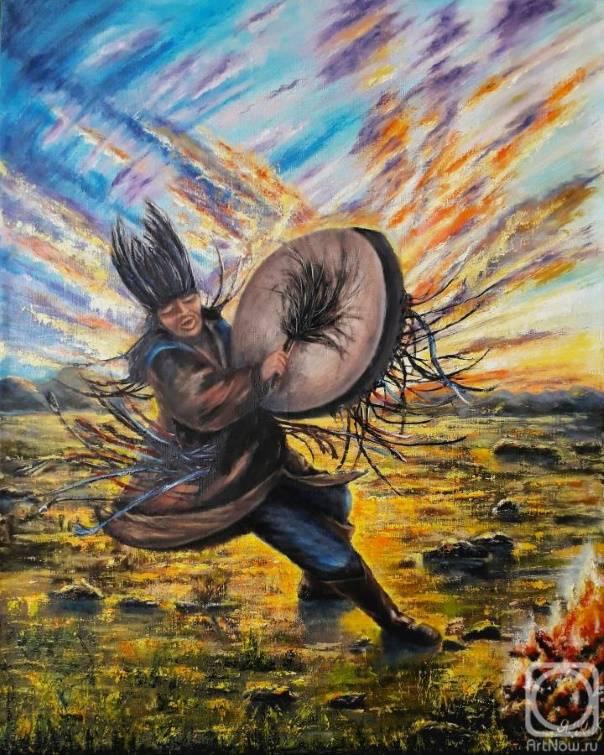«Камлание шамана. Тыва»,  Яна Киверская