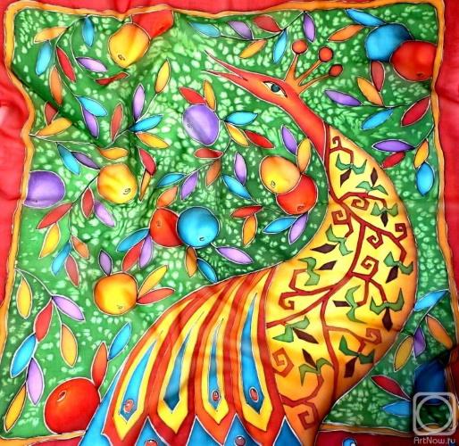 Платок «Райские яблоки», Нелли Павлова