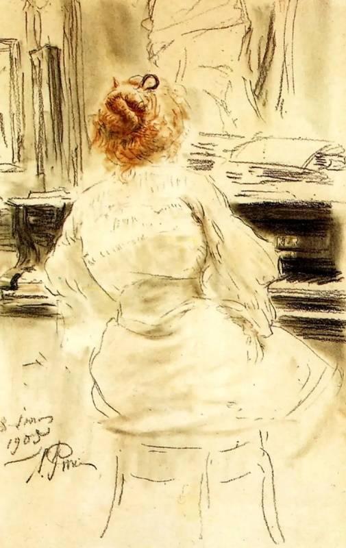 «За роялем», Илья Репин