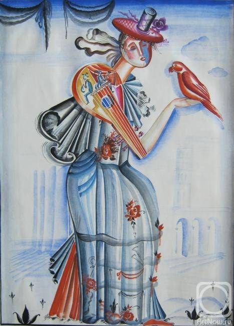 «Дама-мандолина», Нина Федорова