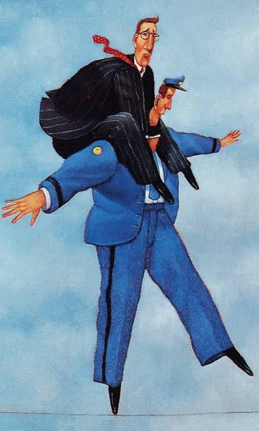 «Полицейский и мужчина в галстуке», Дэйв Катлер.