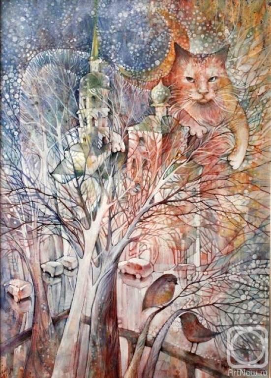 «и падал снег...», Александра Мартынова