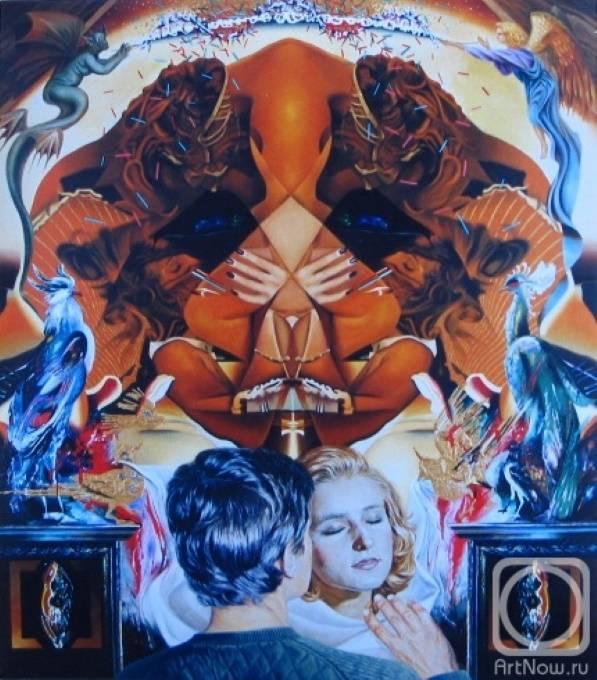 «Адам и Ева. Аллегория любви», Анатолий Иваненко, 1990 г.