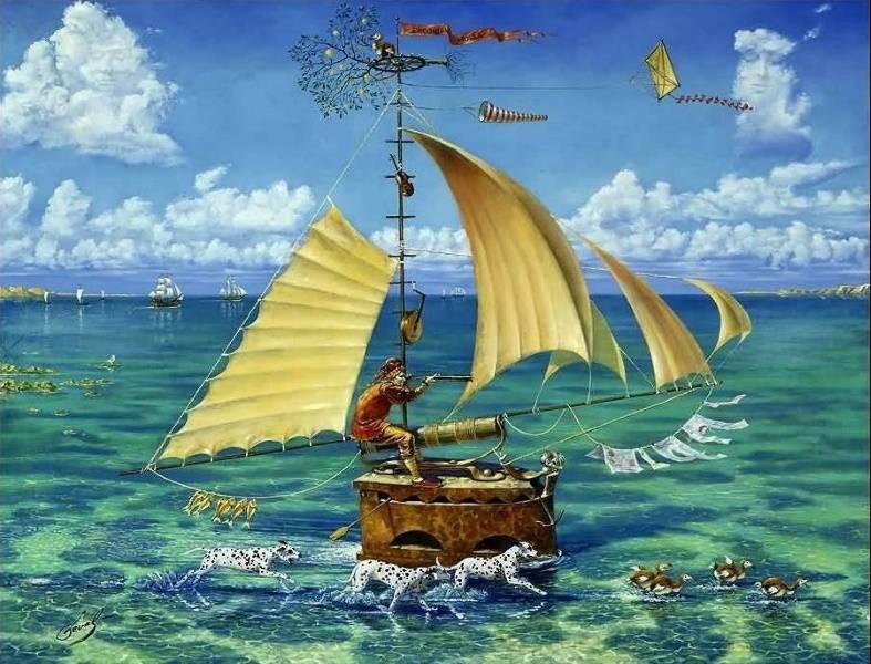 «Корабль Дурака», Michael Cheval.