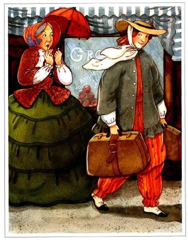 «С чемоданом», Мэри ДеНил Морган