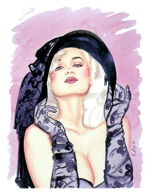 «Блондинка в чёрной шляпе», Оливия Де Берардинис