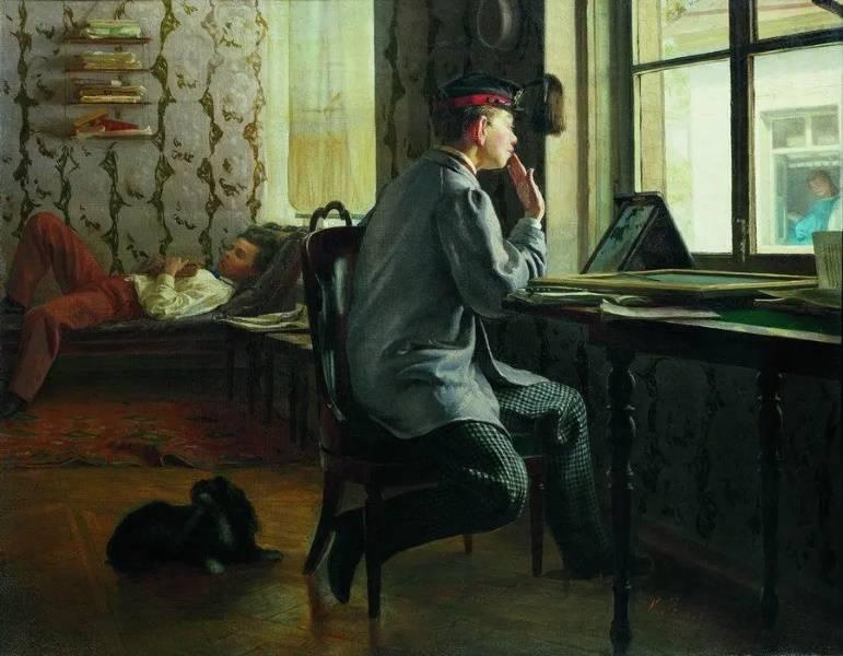 «Приготовление к экзамену», Илья Репин