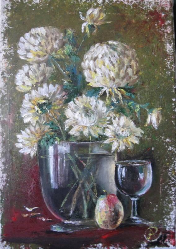 «Осенние хризантемы», Антонина Стреленко