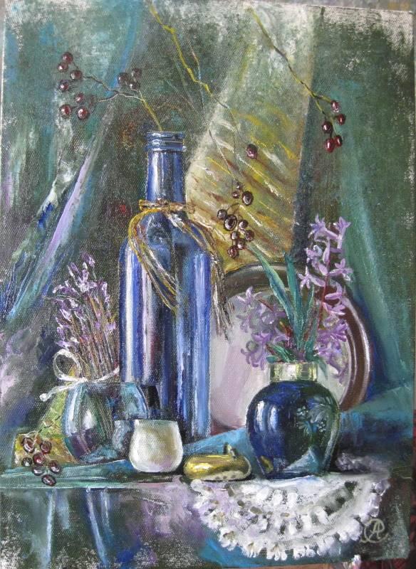«Натюрморт с гиацинтом», Антонина Стреленко