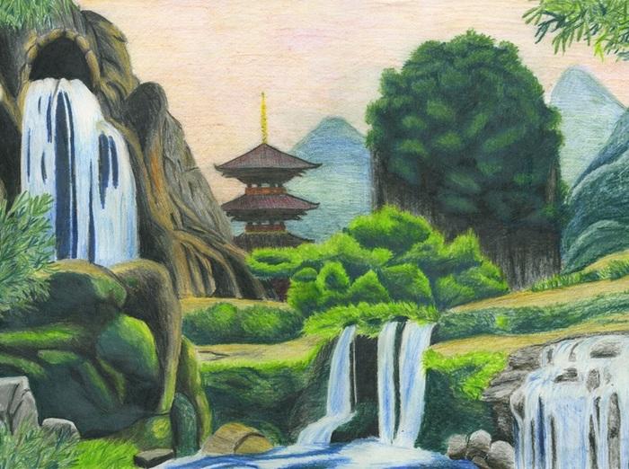 «Японский пейзаж», Мария Шеффер