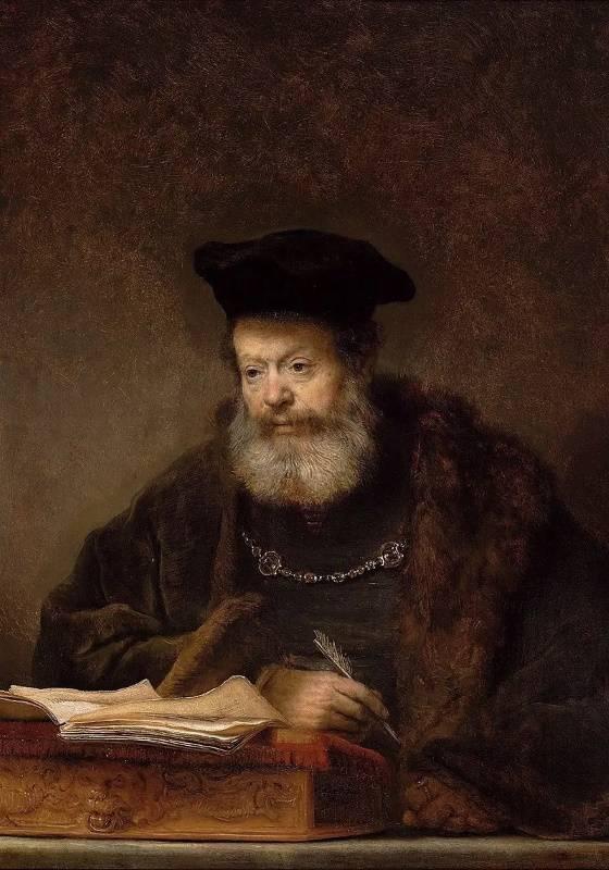 «Учёный за письменным столом», Рембрандт Харменс ван Рейн