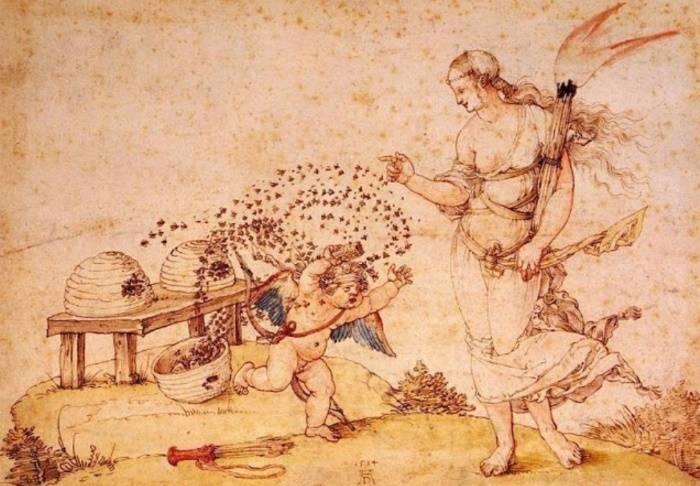 «Купидон, крадущий мёд», Альбрехт Дюрер