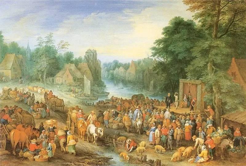 «Толпа людей», Теобальд Мишо (Thеobald Michau)