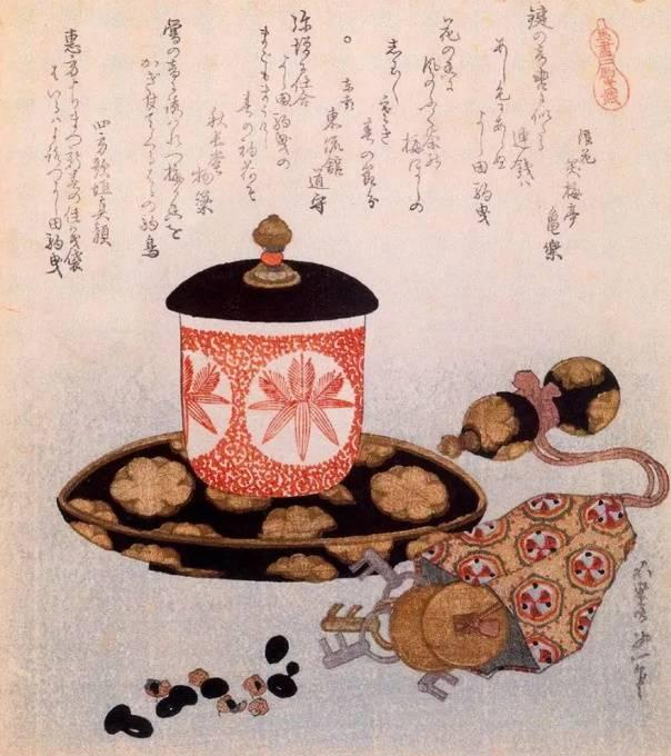 «Чай и ключи», Кацусика Хокусай, гравюра