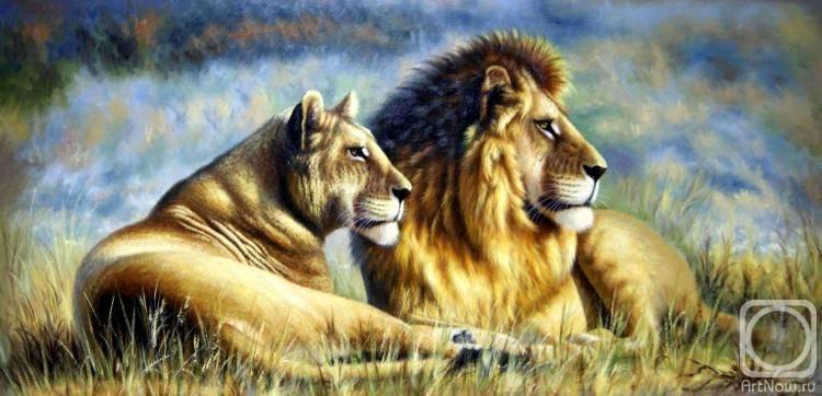 «Лев и львица», Августо Бруно Жавино
