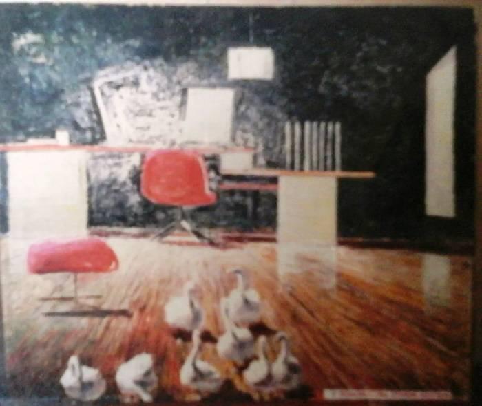 «Гуси в офисе», Валерий Шечкин