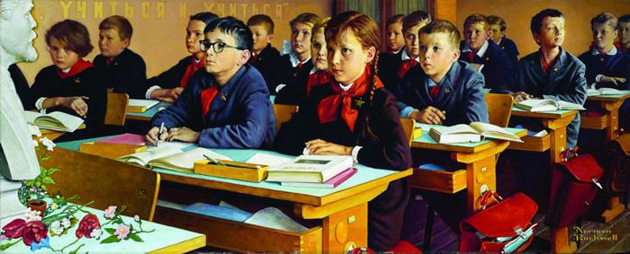 Russian-Schoolroom-Norman-Rokvell