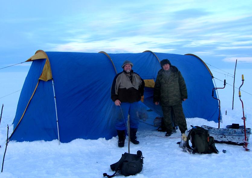 Я и Сергей-налим у шатра А6нет