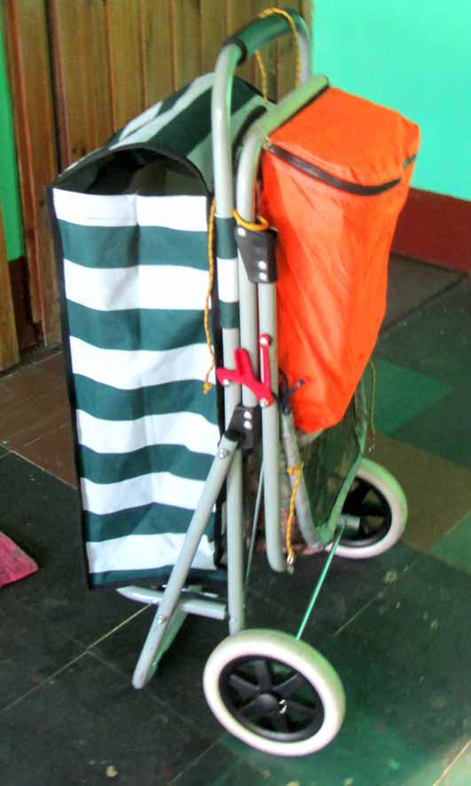 телега с сумкой на ходу А6нет