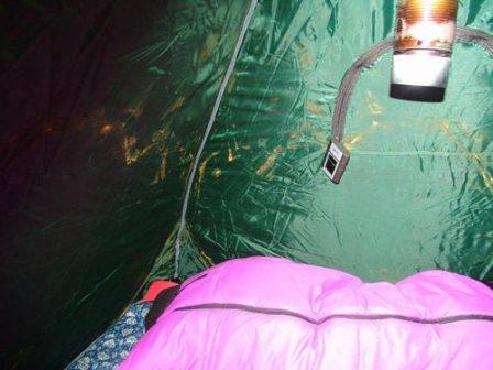 парафин в палатке