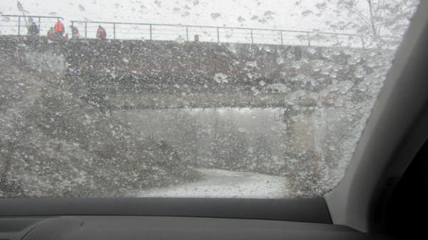 мост и снег А6нет