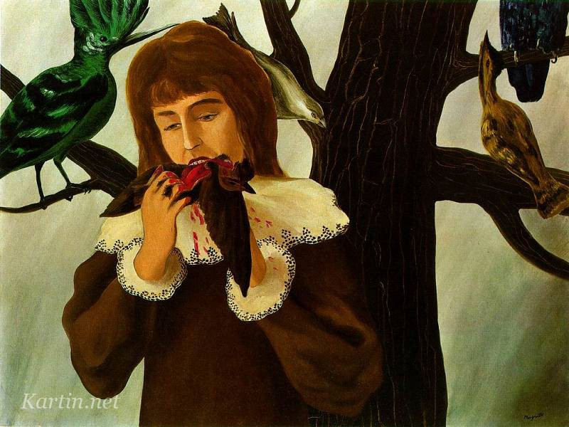 magritte_young_girl_eating_a_bird