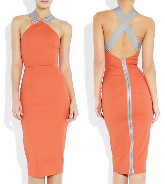 victoria-beckham-halterneck-strech-crepe-pencil-dress-tangerine-orange
