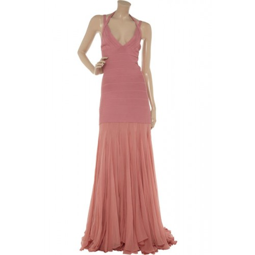 sexy-herve-leger-pink-bandage-and-chiffon-gown-48708640-500x500