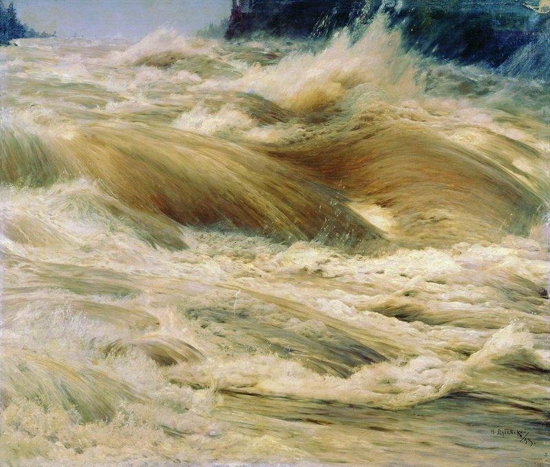 Ниагарский водопад - грохочущая вода