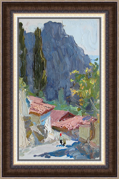 A. Vasiliev. The Gurzuff. 1964. Oil on board, 17 x 10 cm-b