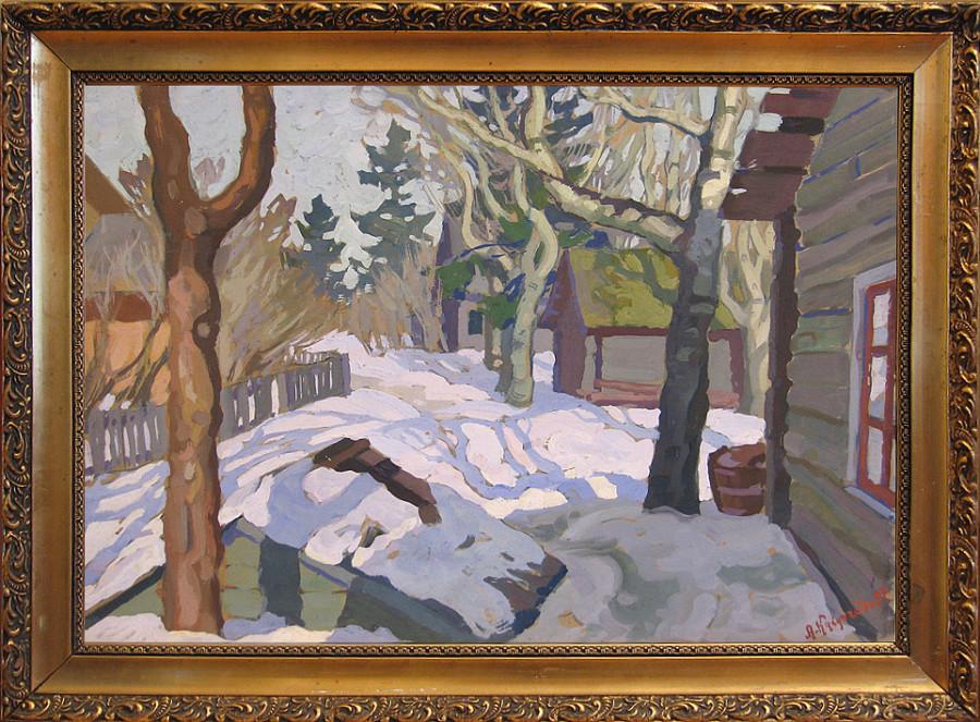 Кайгородов А.Д. (1878-1945). К весне. 1930-е. Темпера. картон, 35х49 см