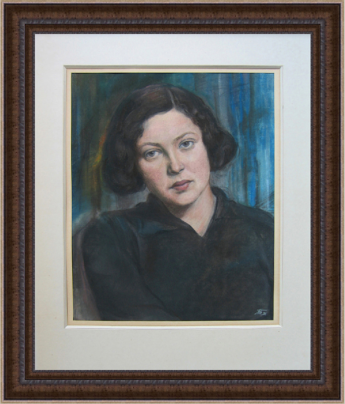 Белоусов П.П. (1912-1989). Портрет Т. Мясоедовой-b