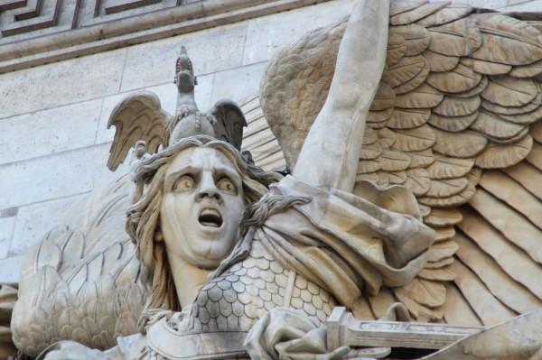 Фрагмент барельефа «Марсельеза» на Триумфальной арке в Париже