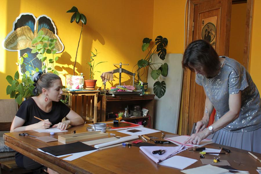 Мастер-класс по созданию экслибриса в Российской государственной библиотеке (Ленинке)