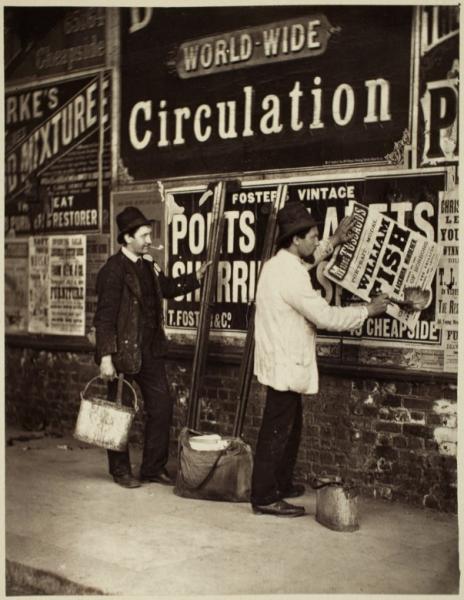 Американские уличные рекламщики 19 века. Фото с сайта library.artstor.org