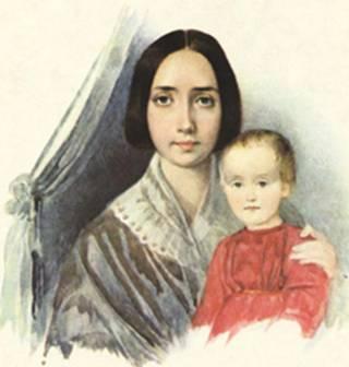 герцен наталья  - жена герцена