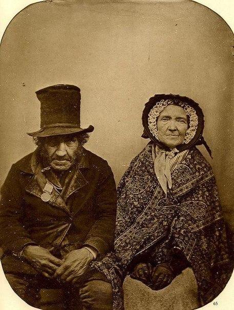Ветеран битвы при Ватерлоо с супругой. Королевство Нидерланды. 1850 г