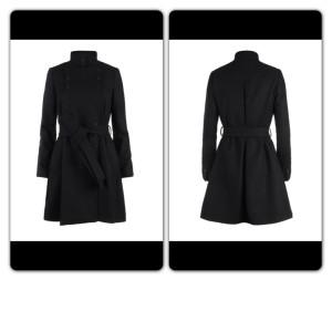 All Saints black coat