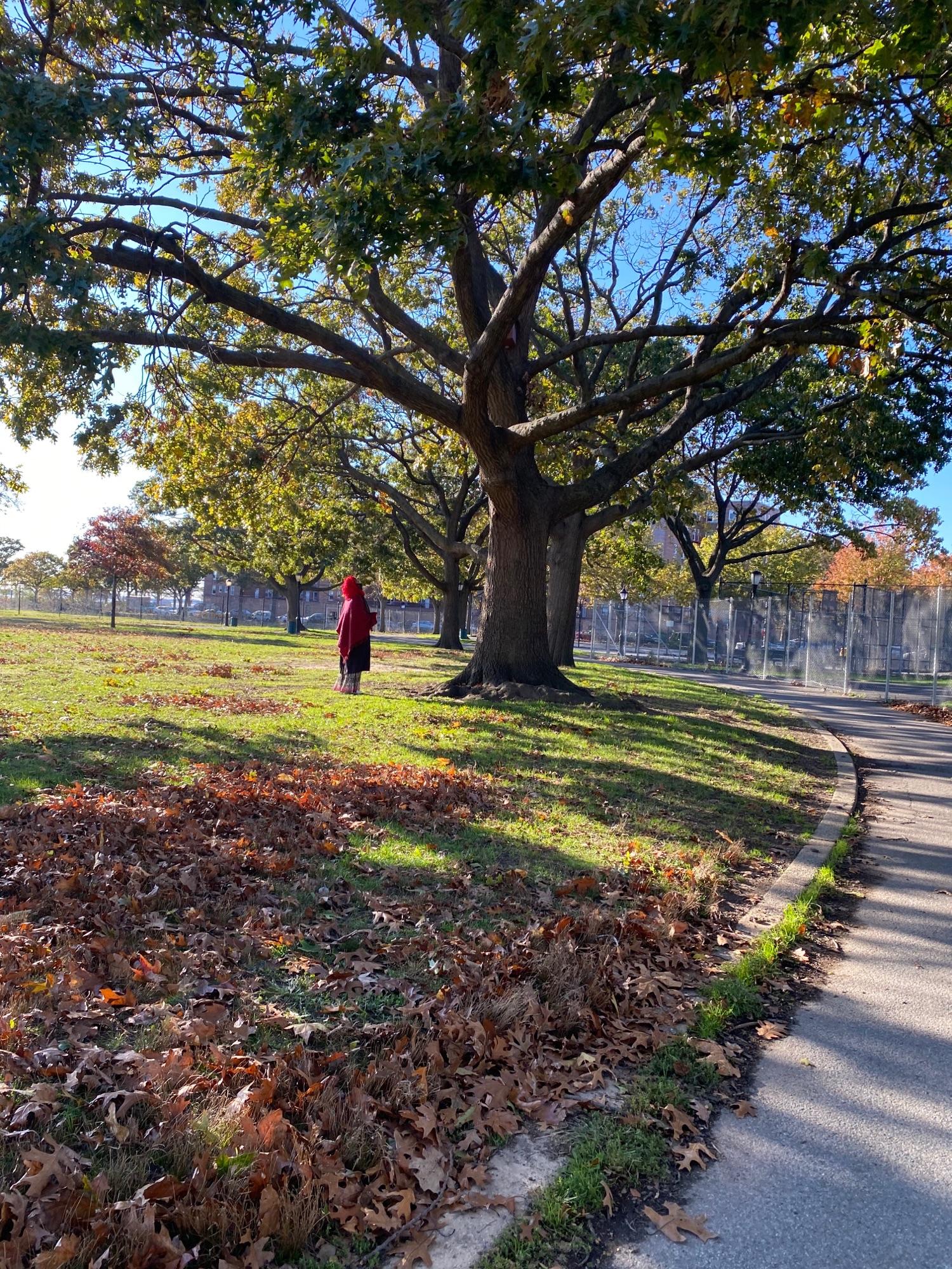 Женщина в парке.