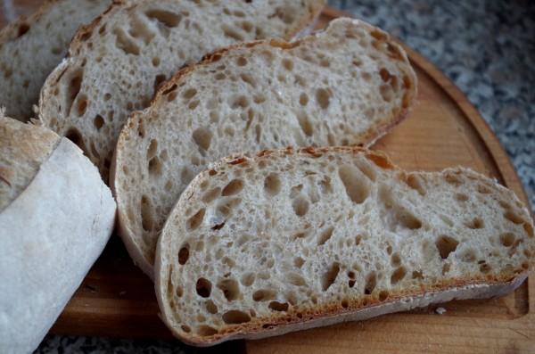 хлеб выпеченный без пара в разрезе